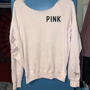 Pink off the shoulder sweatshirt